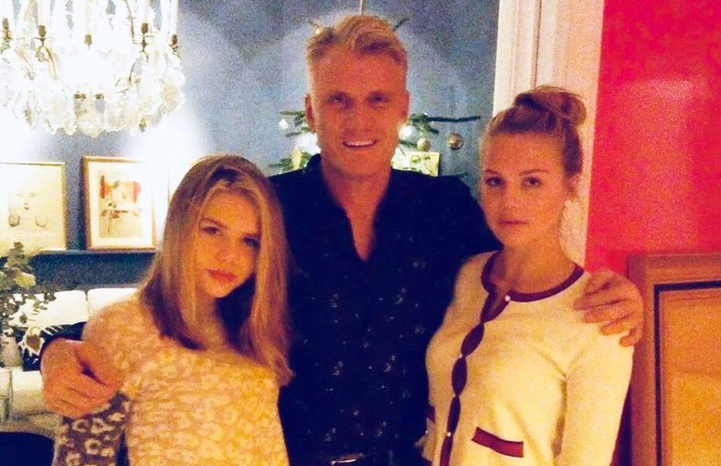Дольф Лундгрен с дочками Идой и Гретой